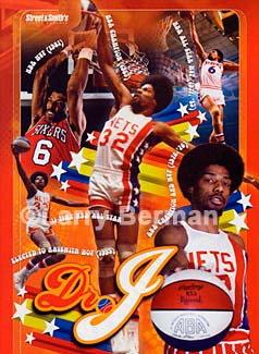 Street & Smith's 2004-2005 Pro Basketball Yearbook Collectable Poster of Julius Erving photograph by Larry Berman