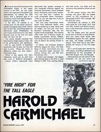 Harold Carmichael photographed by Larry Berman for Black Sports Magazine