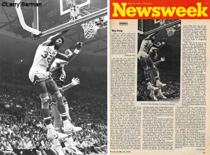 Julius Erving Dr J Photograph in Newsweek Magazine