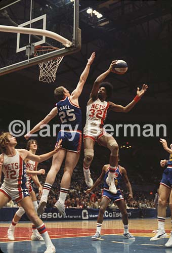 """Dr J"" Julius Erving Photographed by Larry Berman"