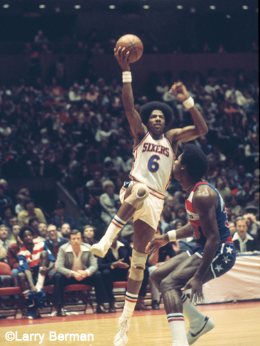 Julius Erving photographed by Larry Berman