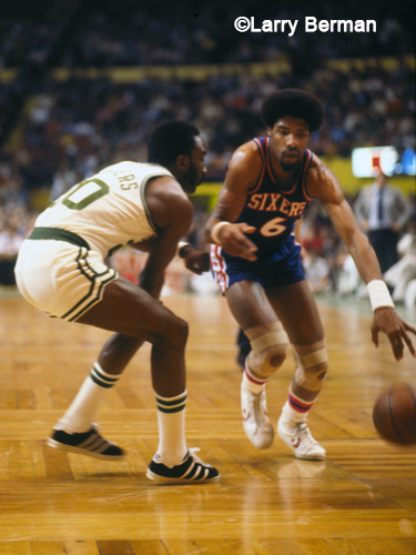 Julius Erving Dr J photographed by Larry Berman