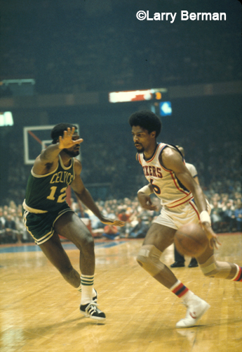 Dr J Julius Erving photograqphed by Larry Berman