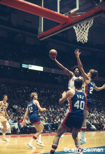 Julius Erving photos by Larry Berman