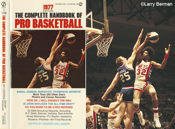 1977 Complete Handbook of Pro Basketball photo of Julius Erving by Larry Berman