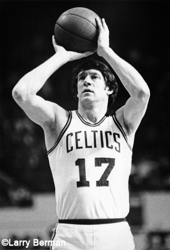 John Havlicek of the Boston Celtics photo by Larry Berman