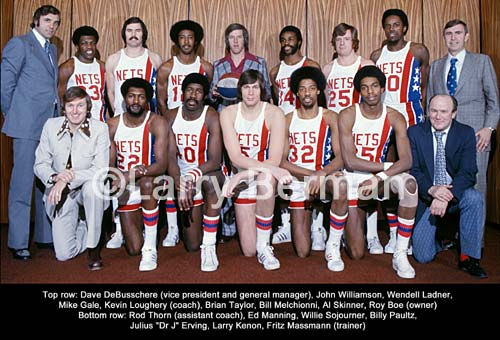 1974-75 ABA New York Nets Team Photo