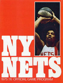 1975 - 76 Official New York Nets Program