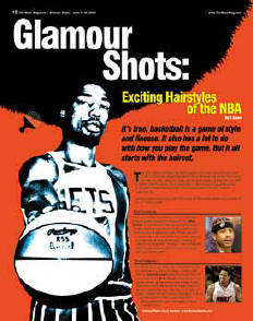 Julius Erving magazine cover photograph by Larry Berman