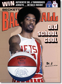 Beckett Basketball January 2005 Julius Erving cover photograph by Larry Berman