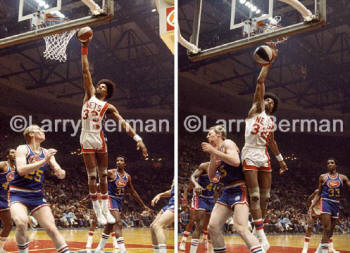Julius Erving Dr J Dunking Sequence Photographed by Larry Berman