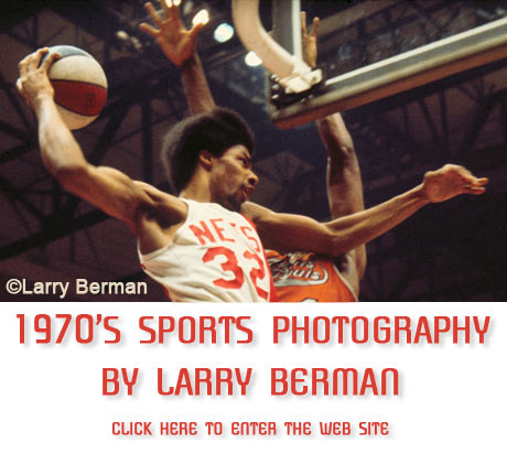 1970's sports photographs by Larry Berman, former staff photographer of the ABA New York Nets
